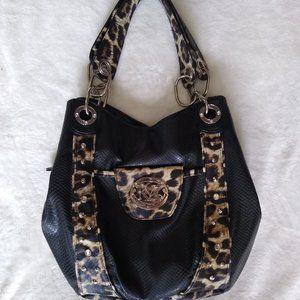 Kathy Van Zeeland Purse Black/Leopard